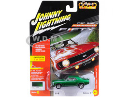 1969 Chevrolet Camaro SS Rallye Green Poly 50th Anniversary Limited Edition to 2920pc Worldwide Muscle Cars USA 1/64 Diecast Model Car Johnny Lightning JLCP7053