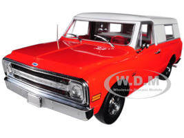 1970 Chevrolet C-10 Red with Removable Camper Shell Limited Edition 1/18 Diecast Car Model Highway 61 H18004