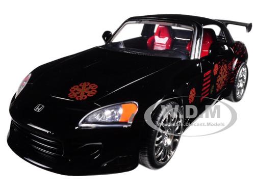 Johnny's 2001 Honda S2000 Black Fast & Furious Movie 1/24 Diecast Model Car Jada 99541