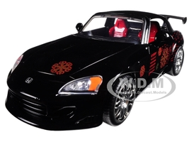 Johnny's 2001 Honda S2000 Black Fast & Furious Movie 1/24 Diecast Model Car Jada 99541