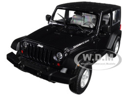 2007 Jeep Wrangler Dark Gray Metallic 1/24 1/27 Diecast Model Car Welly 22489