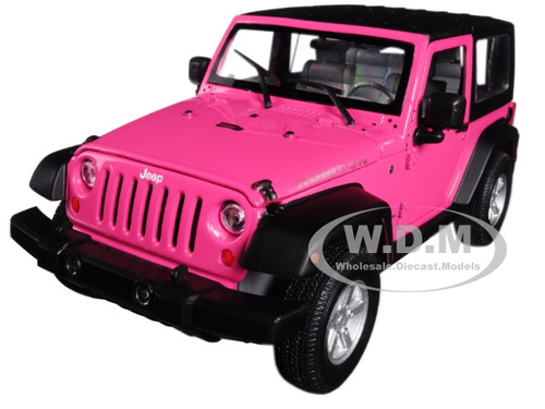 2007 Jeep Wrangler Pink 1/24 1/27 Diecast Model Car Welly 22489