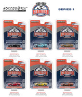 Ford GT Racing Heritage Series 1 6pc Set 1/64 Diecast Model Cars Greenlight 13200