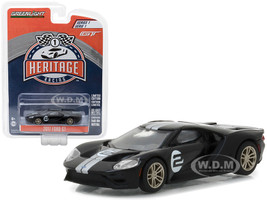2017 Ford GT Black #2 Tribute to 1966 Ford GT40 MK II #2 Racing Heritage Series 1 1/64 Diecast Model Car Greenlight 13200 A