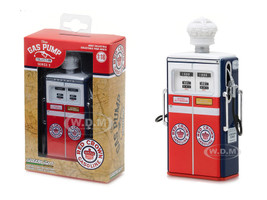 1954 Tokheim 350 Twin Gas Red Crown Gasoline Gas Pump Replica Vintage Gas Pump Series 3 1/18 Diecast Model Greenlight 14030 C