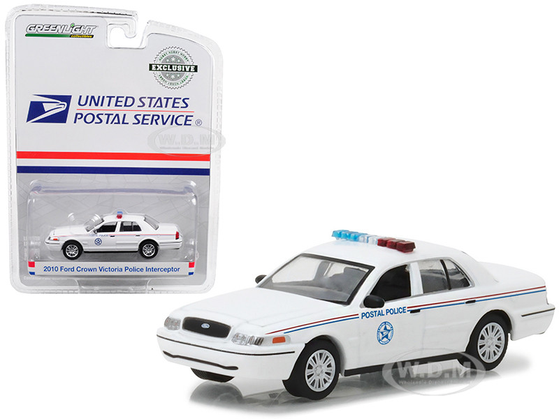 2010 Ford Crown Victoria United States Postal Service USPS Police 1/64 Diecast Model Car Greenlight 29891