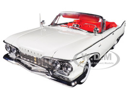 1960 Plymouth Fury Open Convertible Oyster White Platinum Edition 1/18 Diecast Model Car Sunstar 5403