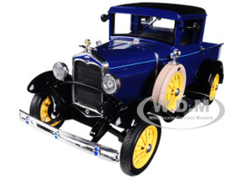 1931 Ford Model A Pickup Truck Lombard Blue 1/18 Diecast Model Car Sunstar 6112