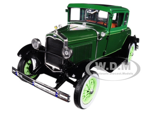 1931 Ford Model A Coupe Valley Green 1/18 Diecast Model Car Sunstar 6133