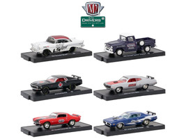 Drivers 6 Cars Set Release 48 In Blister Packs 1/64 Diecast Model Cars M2 Machines 11228-48