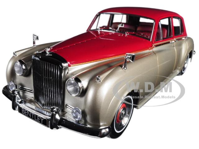1960 Bentley S2 Silver and Dark Red 1/18 Diecast Model Car Minichamps 100139950
