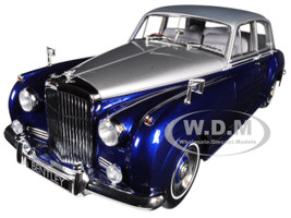1960 Bentley S2 Silver and Blue 1/18 Diecast Model Car Minichamps 100139954