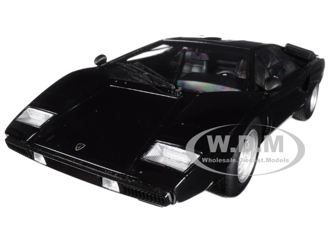 Lamborghini Countach LP400 Black 1/18 Model Car Kyosho C 09531 BK