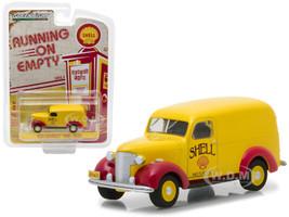 1939 Chevrolet Panel Truck Shell Oil Running on Empty Series 4 1/64 Diecast Model Car Greenlight 41040 A