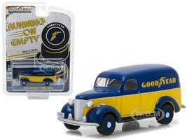 1939 Chevrolet Panel Truck Goodyear Tires Running on Empty Series 4 1/64 Diecast Model Car Greenlight 41040 B