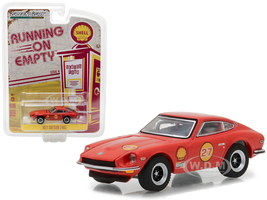 1971 Datsun 240Z Shell Oil Running on Empty Series 4 1/64 Diecast Model Car Greenlight 41040 E