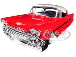 1958 Chevrolet Impala Red Lowrider Series Street Low 1/24 Diecast Model Car Jada 98920