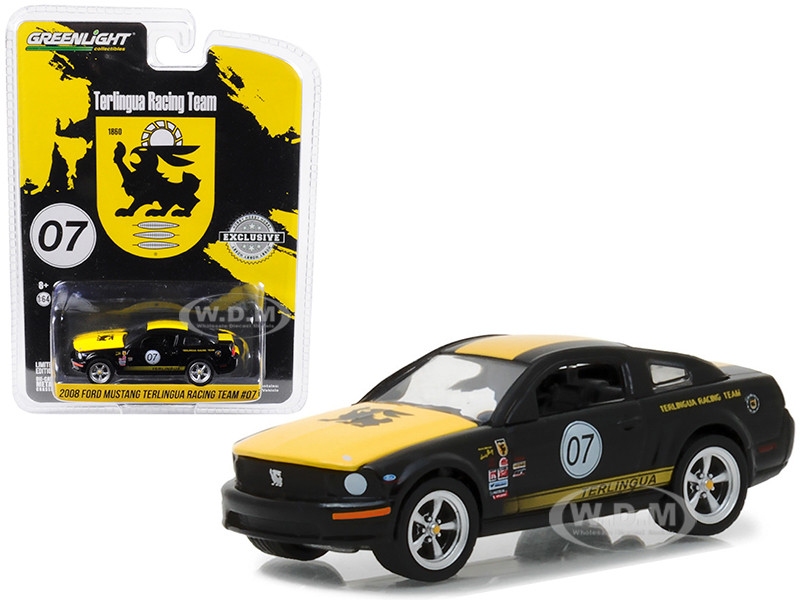 2008 Ford Mustang #07 Terlingua Racing Team Hobby Exclusive 1/64 Diecast Model Car Greenlight 29919