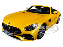 2017 Mercedes AMG GT C Roadster Yellow Metallic 1/18 Diecast Model Car Norev 183451