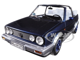 1992 Volkswagen Golf Cabriolet Bel Air Blue Metallic 1/18 Diecast Model Car Norev 188404