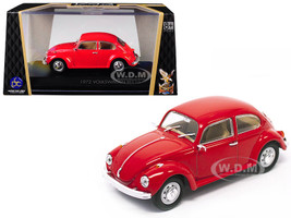 1972 Volkswagen Beetle Red 1/43 Diecast Model Car Road Signature 43219