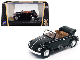 1972 Volkswagen Beetle Open Top Convertible Black 1/43 Diecast Model Car Road Signature 43220