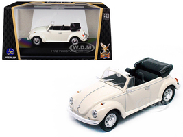 1972 Volkswagen Beetle Open Top Convertible Cream 1/43 Diecast Model Car Road Signature 43220