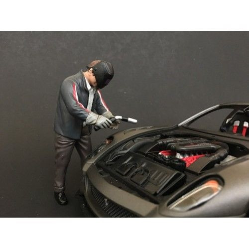 Chop Shop Mr. Welder Figure for 1:24 Scale Models American Diorama 38259
