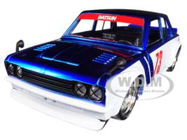1973 Datsun 510 Widebody #73 Candy Blue JDM Tuners 1/24 Diecast Model Car Jada 99094