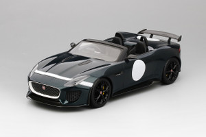 Jaguar F-Type Project 7 British Racing Metallic Green Limited Edition to 999 pieces 1/18 Model Car Top Speed TS0033