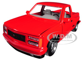 1992 GMC Sierra GT Red Pickup Truck 1/24 Diecast Model Motormax 73204