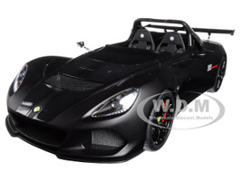 Lotus 3-Eleven Matt Black with Gloss Black Accents 1/18 Model Car Autoart 75391
