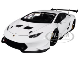 2015 Lamborghini Huracan Super Trofeo White Bianco Isis 1/18 Model Car Autoart 81557