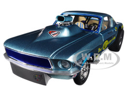 Ohio George's 1967 Ford Mustang Malco Gasser with Airplow Front Spoiler Limited Edition to 900 pieces Worldwide 1/18 Diecast Model Car GMP 18879