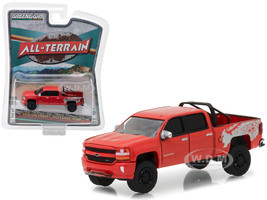2018 Chevrolet Silverado 1500 Red All Terrain Series 6 1/64 Diecast Model Car Greenlight 35090 F