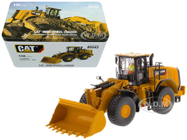 CAT Caterpillar 980M Wheel Loader with Rock Bucket and Operator High Line Series 1/50 Diecast Model Diecast Masters 85543