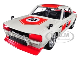 1971 Nissan Skyline GT-R #8 Red Cream KPGC10 JDM Tuners 1/24 Diecast Model Car Jada 30003