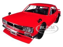 1971 Nissan Skyline GT-R Red KPGC10 JDM Tuners 1/24 Diecast Model Car Jada 30004
