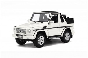 Mercedes G Class G500 White Cabriolet Limited Edition to 2000 pieces Worldwide 1/18 Model Car Otto Mobile OT275