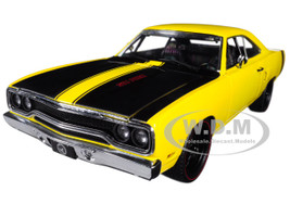 1970 Plymouth Road Runner Street Fighter 6-Pack Attack Yellow with Black Stripes Limited Edition to 780 pieces Worldwide 1/18 Diecast Model Car GMP 18837