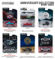 Greenlight Anniversary Collection Series 6 6pc Diecast Car Set 1/64 Diecast Model Cars Greenlight 27940
