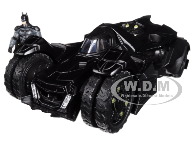 Arkham Knight Batmobile with Diecast Batman Figure 1/24 Diecast Model Car Jada 98037