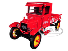 1923 Ford Model TT Coca Cola Pickup Truck with 9 Coca Cola Cases and a Hand Cart 1/32 Diecast Model Car Motorcity Classics 432455
