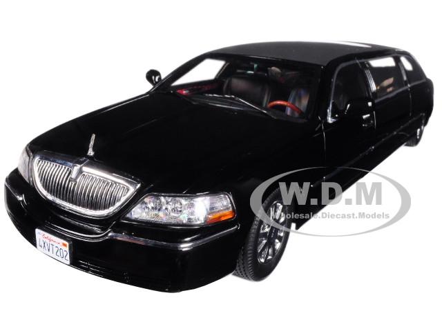 2003 Lincoln Town Car Limousine Black 1 18 Diecast Car Model Sunstar