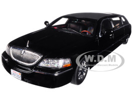 2003 Lincoln Town Car Limousine Black 1/18 Diecast Car Model Sunstar 4202