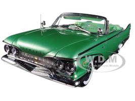 1960 Plymouth Fury Open Convertible Chrome Green Platinum Edition 1/18 Diecast Car Model Sunstar 5404