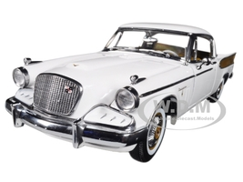 1957 Studebaker Golden Hawk Arctic White 1/18 Diecast Car Model Sunstar 6152
