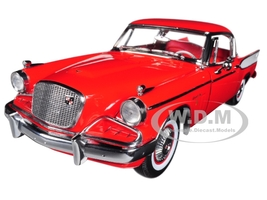 1957 Studebaker Golden Hawk Apache Red 1/18 Diecast Model Car by Sunstar 6153