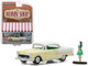 1955 Chevrolet Bel Air Yellow with Woman in Dress The Hobby Shop Series 3 1/64 Diecast Model Car Greenlight 97030 B