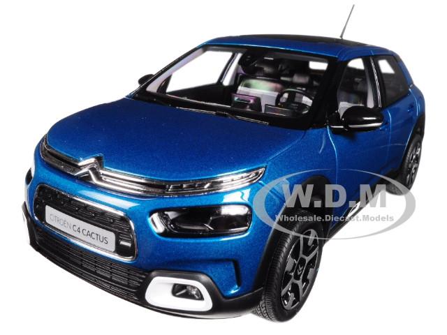 2018 Citroen C4 Cactus Blue 1/18 Diecast Model Car Norev 181660